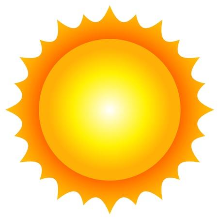 sol caricatura: Ilustración vectorial de sol Vectores