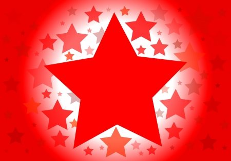 socialism: Vector background with red stars Illustration