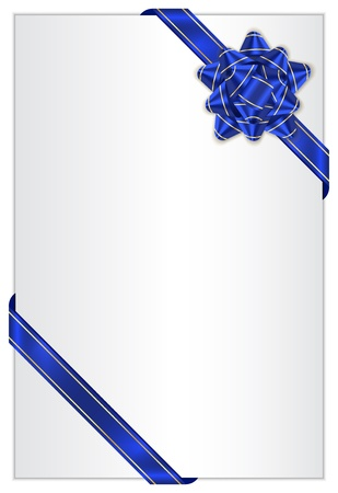 Vector gift background with blue bow Vector
