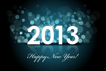 Vector 2013 - New year blue background Stock Vector - 16850772