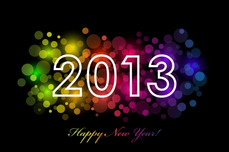 Vector Happy New Year - 2013 colorful background Vector