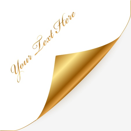 Vector gold and white note paper Stock Vector - 16850760