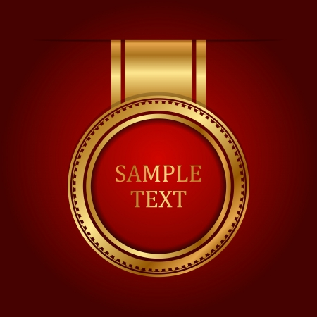 Vector gold label with space for text Vector