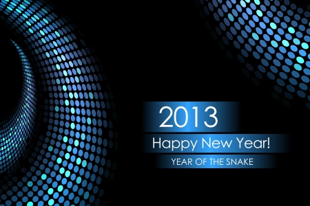 Year of the water snake - vector background Vector