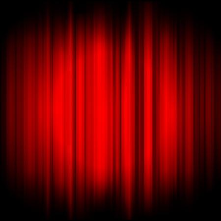chanteur opéra: Vector fond rouge