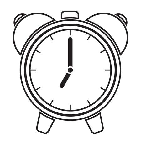 awaken: Vector illustration of alarm clock Illustration