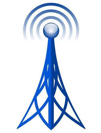 omroep: Vector antennepictogram Stock Illustratie