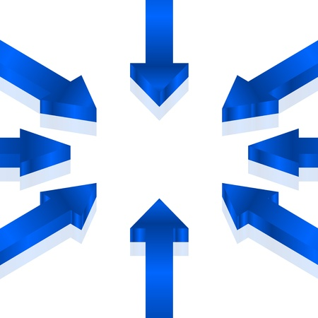 Vector illustration of blue arrows Vector