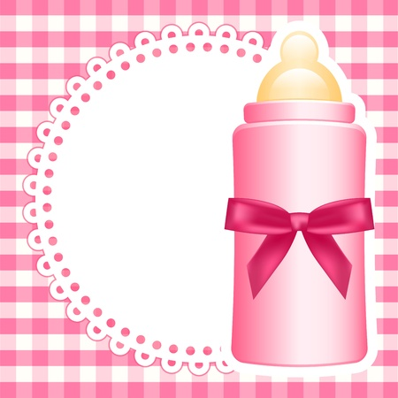 baby bottle: Vector background with baby bottle