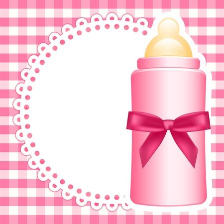 Vector Hintergrund mit Babyflasche
