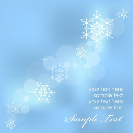 Vector winter background with snowflakes Stock Vector - 17414447