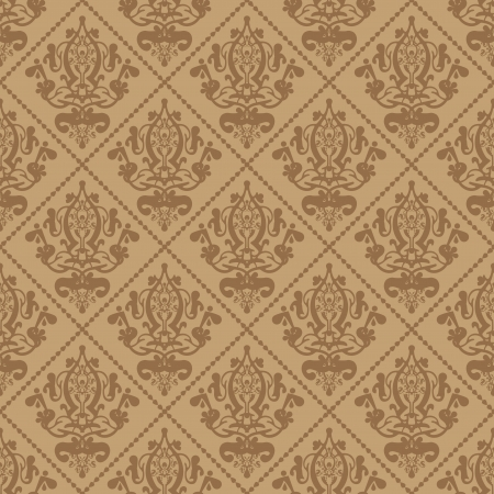 Vector beige background with ornament Vector
