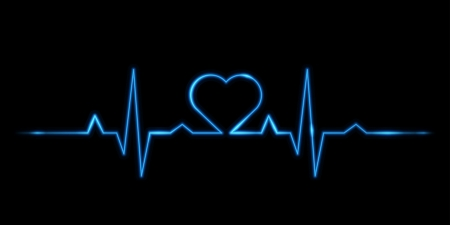 electrocardiogram: vector - Cardiogram of love