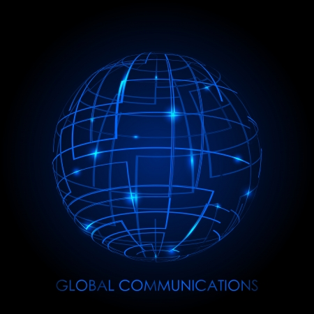 Global communications - vector background Stock Vector - 17340606