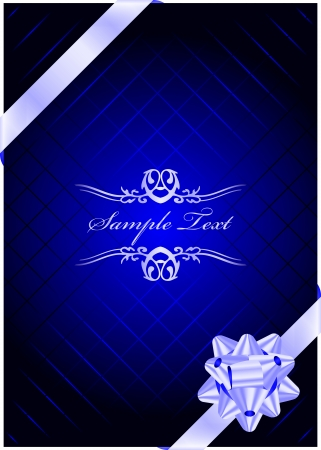 Vector blue present background Vector