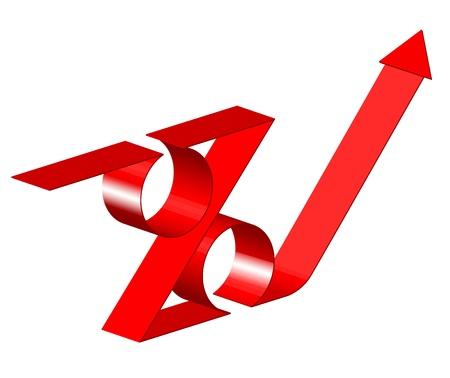 property investment: Vector 3d percent sign