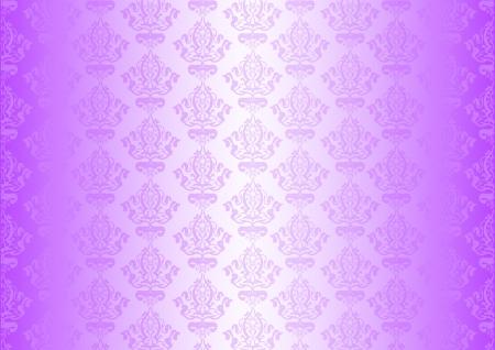 flores fucsia: Vector p�rpura papel pintado con adornos