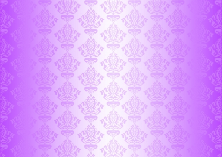 fuchsia flower: Vector purple wallpaper with ornaments