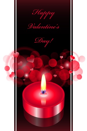 Vector romantic background with red candle Stock Vector - 17340609
