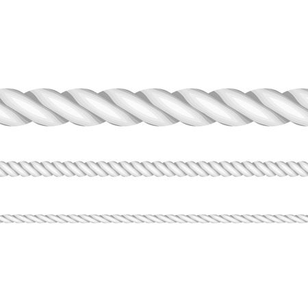 straight edge: Vector illustration of ropes Illustration