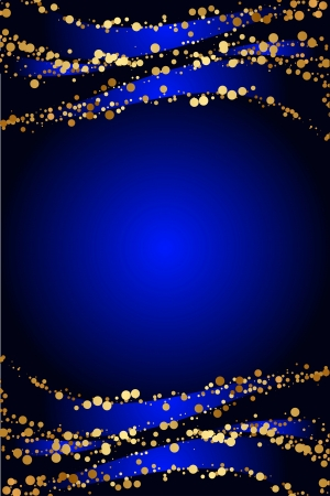 Vector blue background with gold snow Stock Vector - 17414444