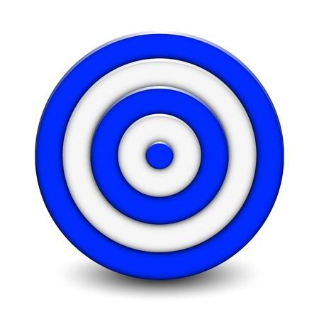 marksmanship: Vector Illustration of 3d target