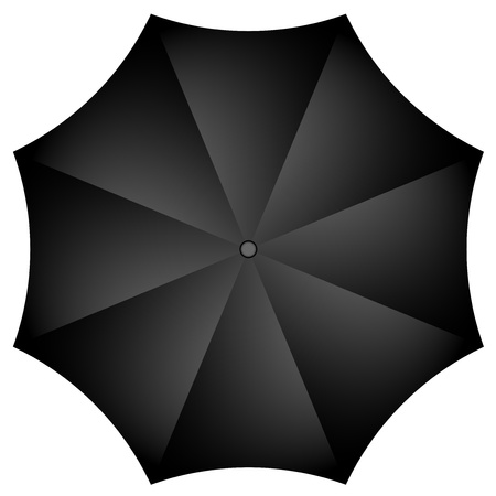 Vector illustration of black umbrella Stock Vector - 17329434