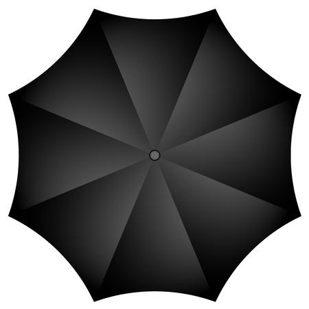 Vector illustration of black umbrella Stock Vector - 17329434