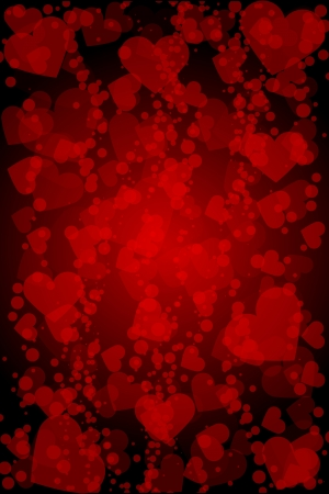 Vector red background with hearts Stock Vector - 17329449