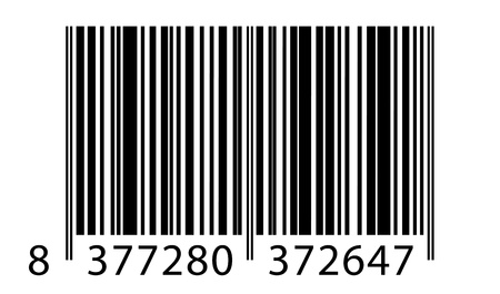 codigos de barra: ejemplo de código de barras Vectores