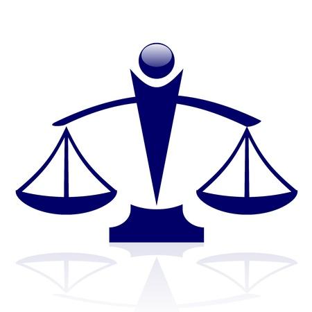 giustizia: icona - Bilance di giustizia Vettoriali