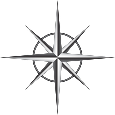 travel star: illustration of compass rose