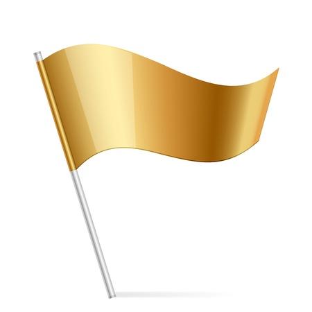 flag pin: illustration of gold flag