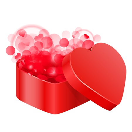 illustration of red heart box Vector