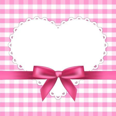 moño rosa: marco rosado con el corazón