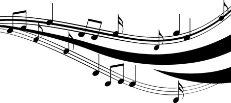 g string: illustration of notes Illustration