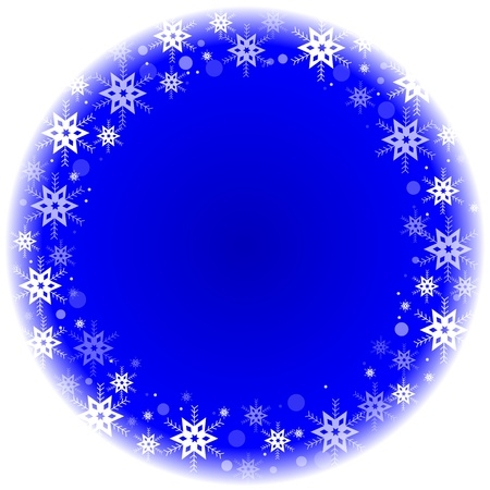 winter frame with snowflakes Stock Vector - 17688842