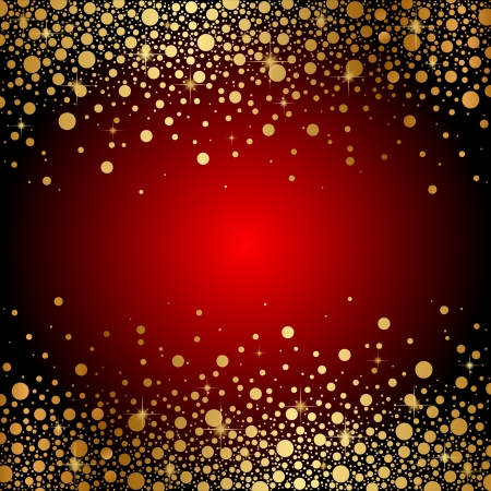 red and gold luxury background Vector