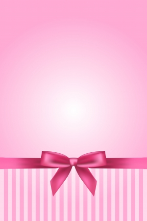 girls with bows: pink background with bow
