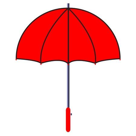 illustration of red umbrella Stock Vector - 17688595