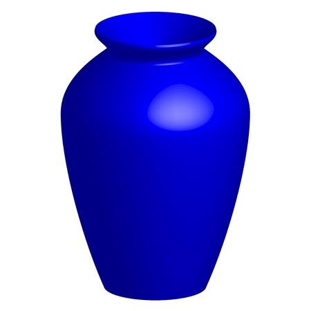 antique vase: illustration of blue vase Illustration