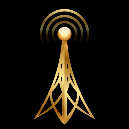 gold antenna icon