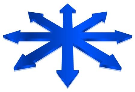 illustration of blue arrows Stock Vector - 17968199