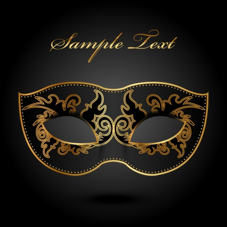 venetian mask: Mystery -  background with ornate mask Illustration