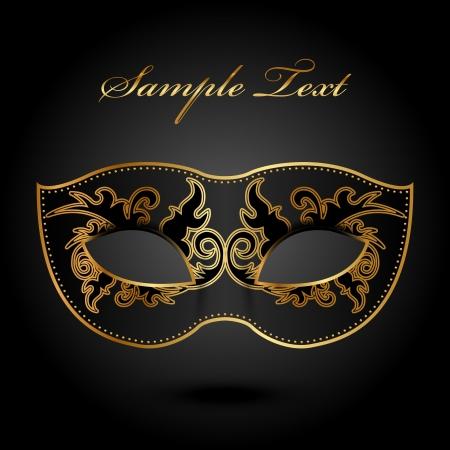 Mystery - fondo adornado con máscara Ilustración de vector