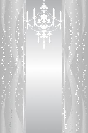 chandelier background:  silver background with chandelier Illustration