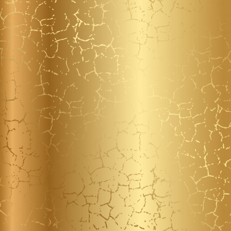 Gold texture with cracks Stock Vector - 17968217