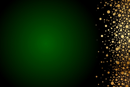 golden border:  green and gold luxury background Illustration