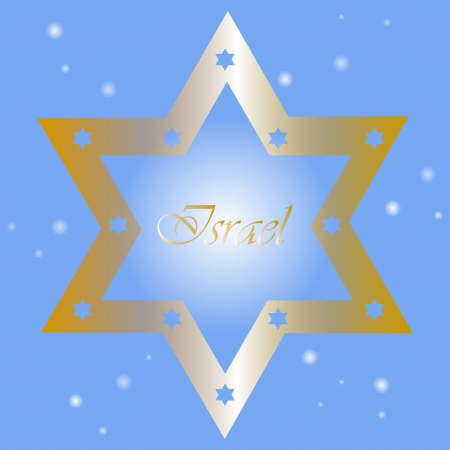 jewry: Israel -  background with golden star of David