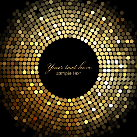 glitter ball:  gold disco lights frame
